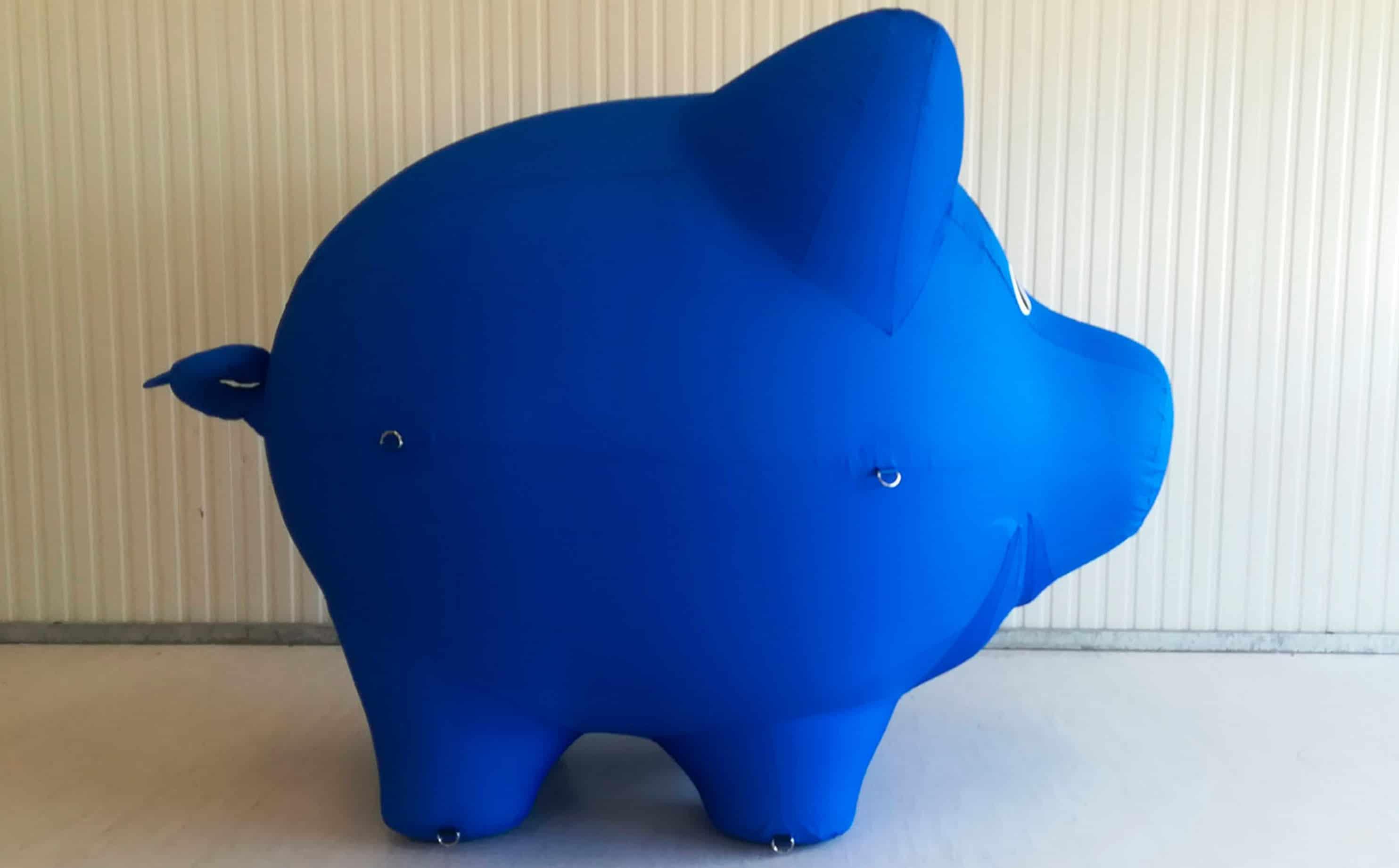 Schwein luftdicht von der Seite