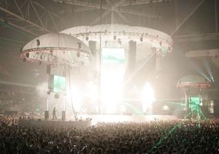 Inflatable Bühnendesign mit Beleuchtungseffekten