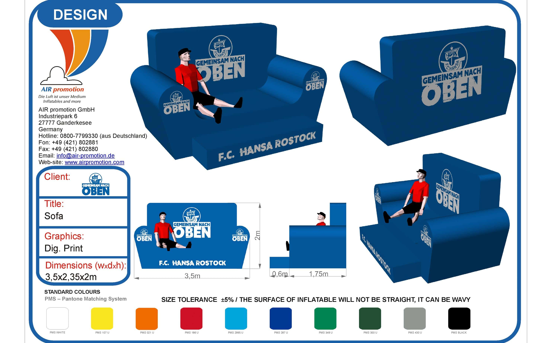 aufblasbares Riesen-Sofa
