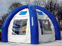 Inflatable tent with 4 legs