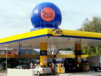 Standballon für Tankstellenwerbung, Dachwerbung Ballon