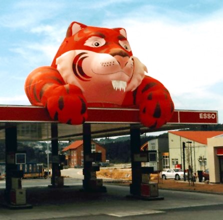 Inflatable Esso tiger