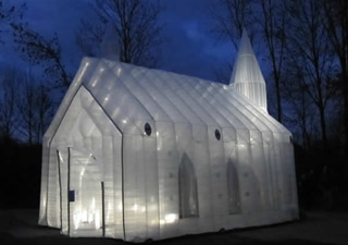 Inflatable lighted curch