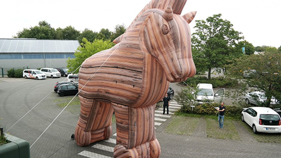 inflatable trojan horse