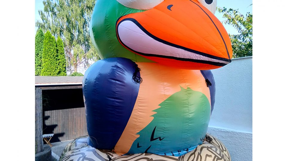 aufblasbarer Vogel 5m hoch
