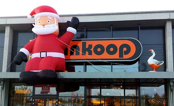 Aufblasbarer Kantenhocker Weihnachtsmann Inkoop Ganderkesee