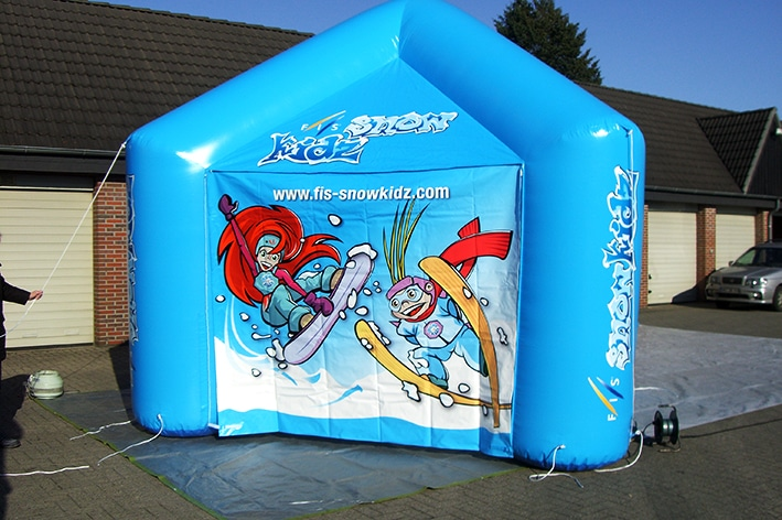 Custom molded inflatable tent for events